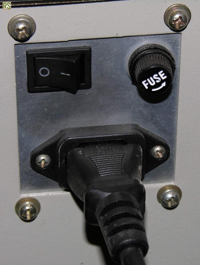 Подключение силового кабеля лазерного станка СО2